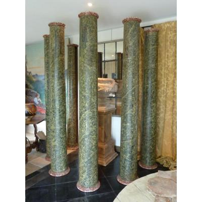 Painted Wooden Columns
