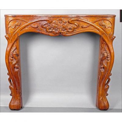 Art Nouveau Style Fireplace