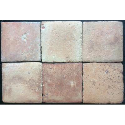 Lot 20.50 M2 Of Terracotta Floor Tiles 17th 20.5x20.5 Cm