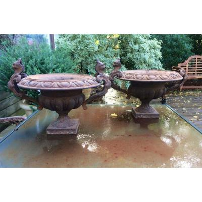 Pair Of Nineteenth Cast Iron Sinks