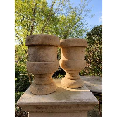 Paire De Vases En Pierre XIXe