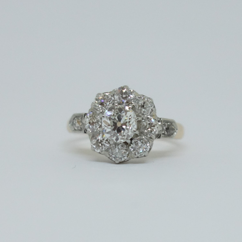 Bague Marguerite Or Rose Et Diamants