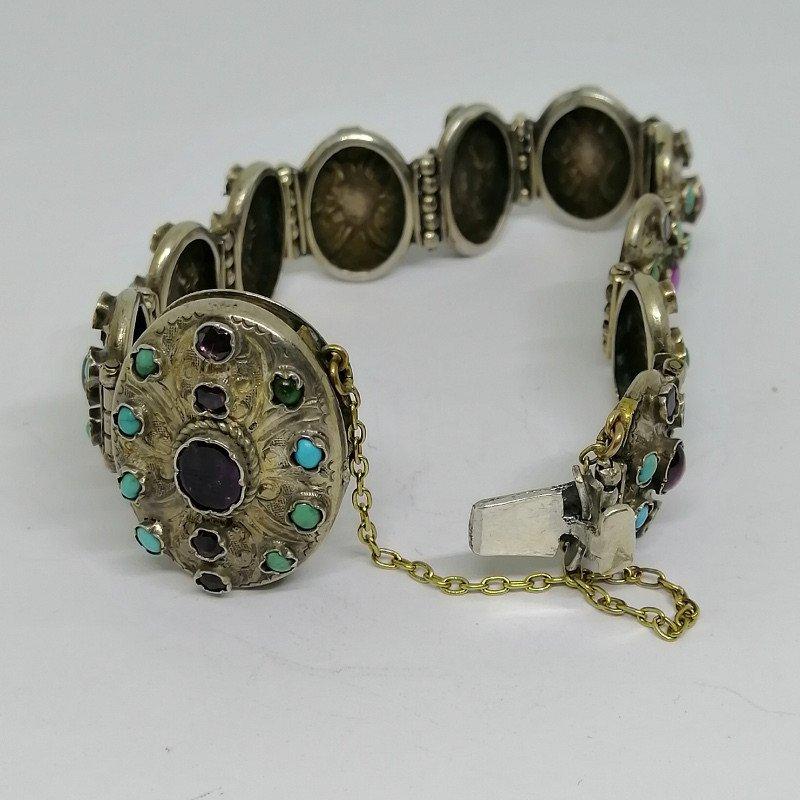 Austro-hungarian Silver / Vermeil Bracelet.-photo-3