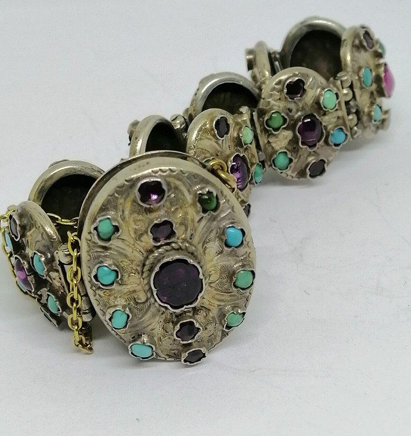 Austro-hungarian Silver / Vermeil Bracelet.-photo-4