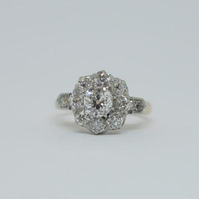 Bague Marguerite Or Rose Et Diamants