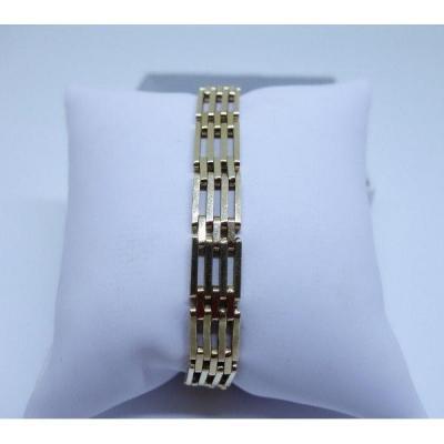 Bracelet Or Maille Grille.