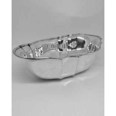 Bread Or Fruit Basket In Sterling Silver, Late 19th Century.
