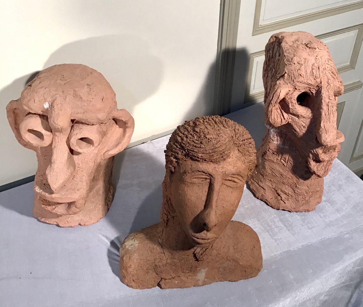 Sculptures En Terre Cuite 20ème