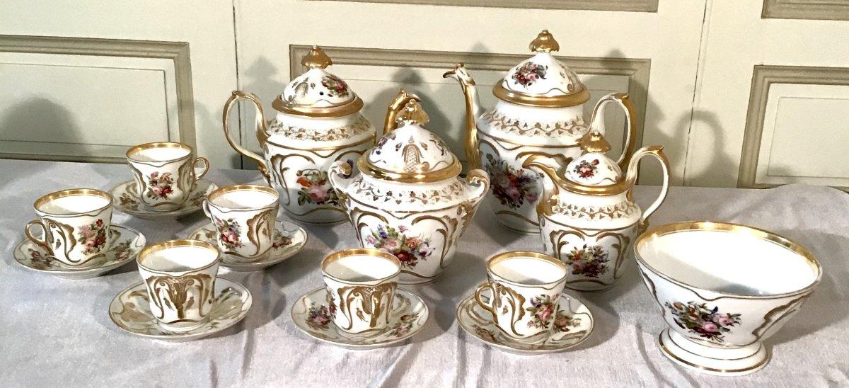 Partie De Service En Porcelaine De Paris, Style Louis Philippe, 19ème