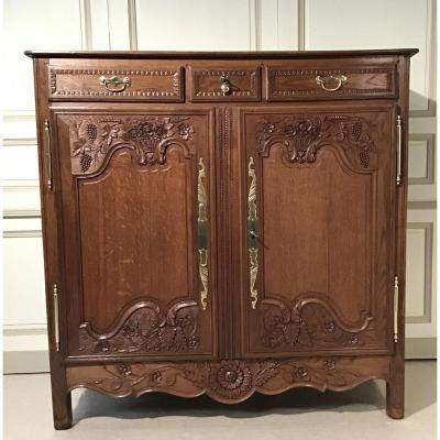 "Buffet 3/4 Normand In Oak Said ""convenient"" 19th Century"