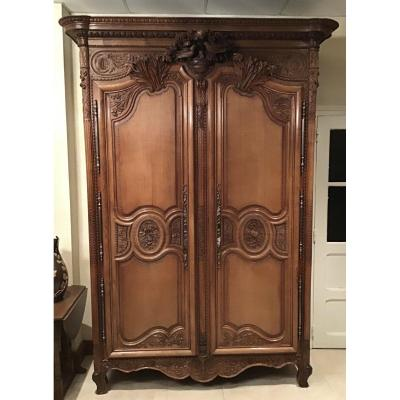 Carved Oak Wedding Cabinet, Caen