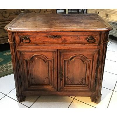 Small Low Normand Buffet Early 18th Century Louis XIV Style In Oak