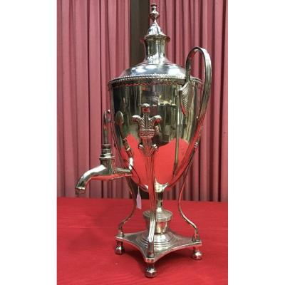 Empire Style Silver Metal Samovar