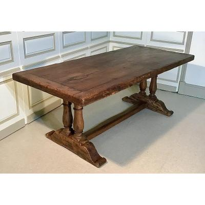 "Table Said ""monastery"" In Solid Oak, Early Twentieth"