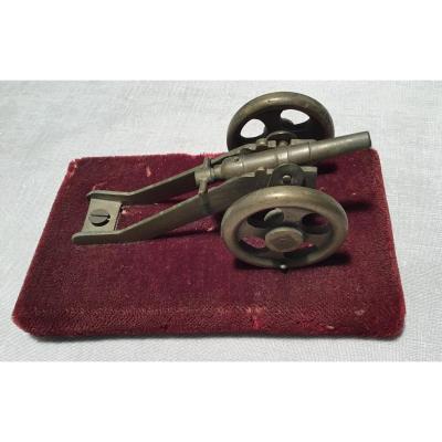 Canon Miniature En Bronze 19ème