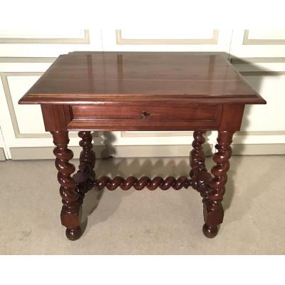 Louis XIII Style Walnut Writing Table, 19th