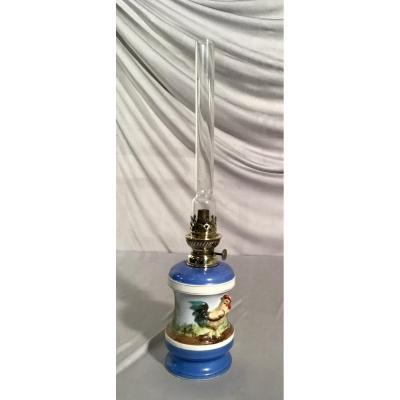 Porcelain Oil Lamp, Napoleon III Period