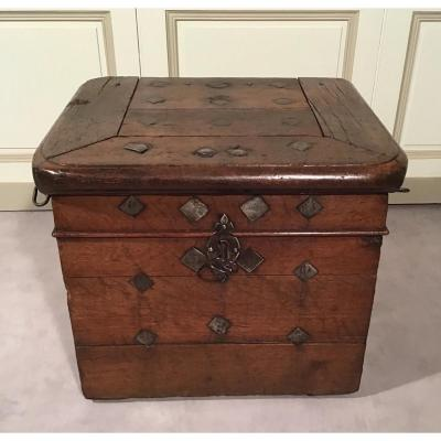 Marine Chest With Three Locks, 17th Century Period