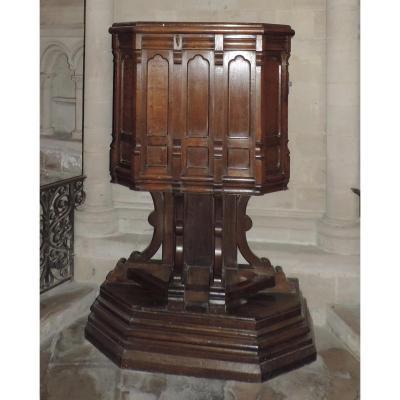Late 19th Century Oak Church Chair