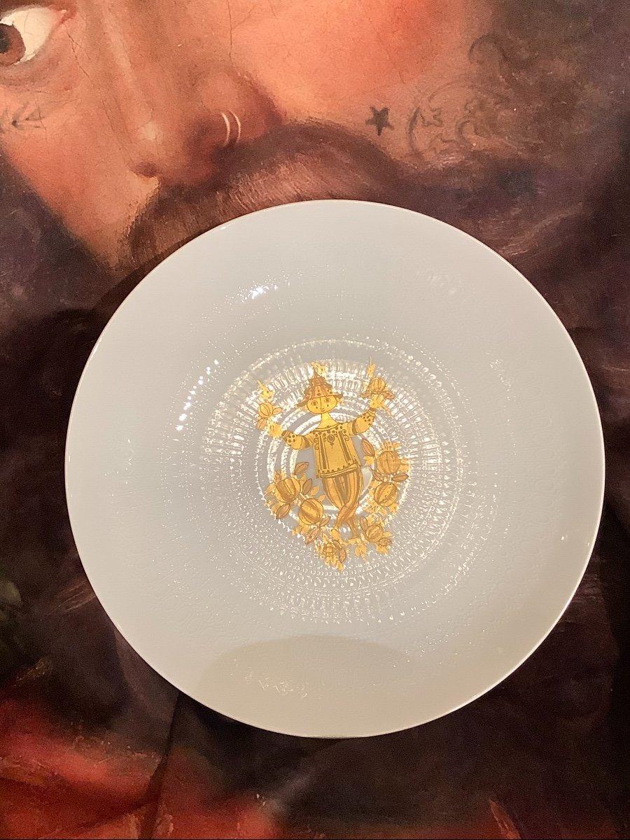 Grand Plat Porcelaine Rosenthal Design Bjorn Wiinblad