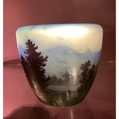 Vase Emile Gallé Ligne Bleue des Vosges