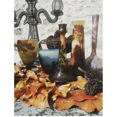 Vase Emile Gallé Paysage