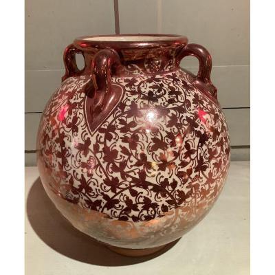 Large Hispano Moorish Earthenware Vase