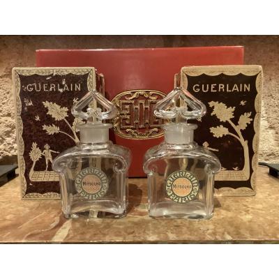 Pair Of Guerlain Mitsouko Crystal Baccarat Bottles