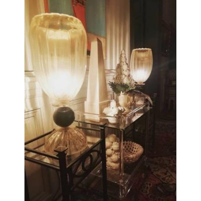 Paire De Grandes Lampes Murano Barovier & Toso 1980´