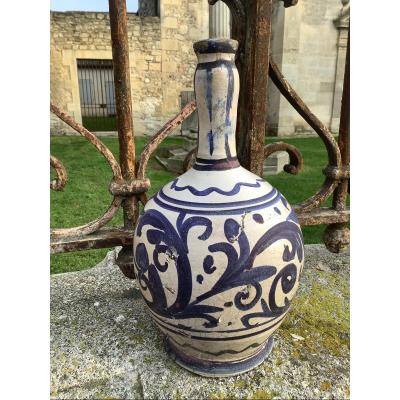 18th Spanish Faience Bottle