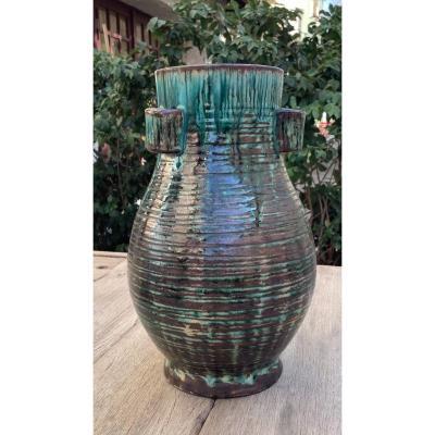 Large Accolay Ceramic Vase 1950´