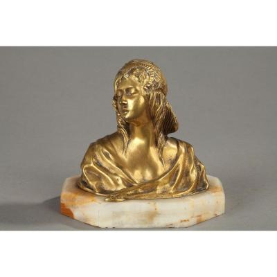 Bust Of Young Woman Signed Loiseau Rousseau