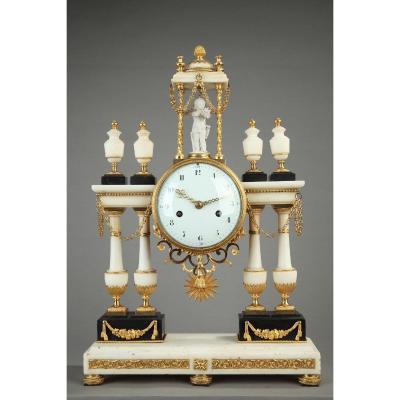 An Important Louis XVI Portico Clock