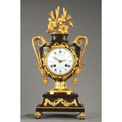 L XVI Period Clock; Gilt And Patinated Bronze