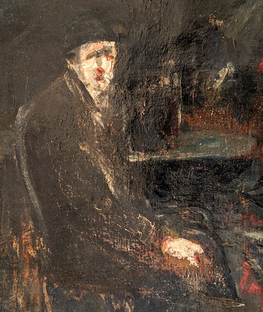Portrait Signed Adolphe Peterelle