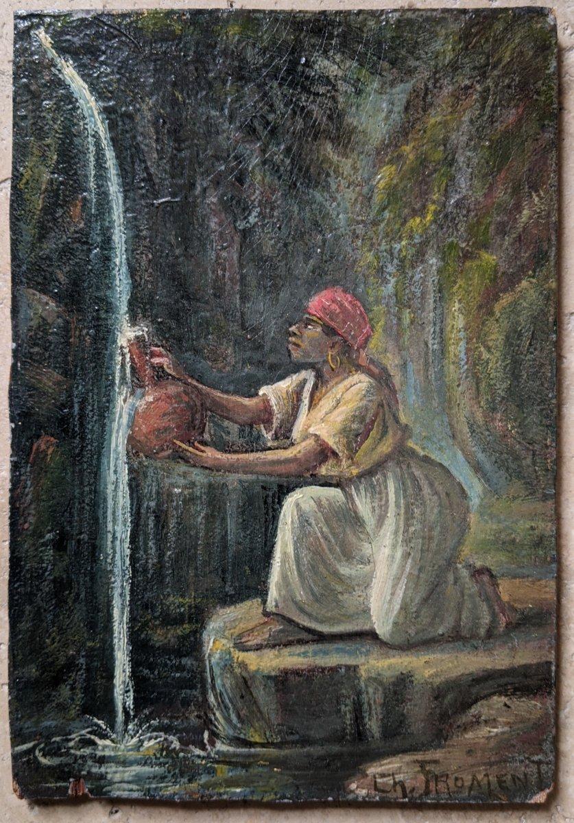 Femme à La Source By Ch. Froment