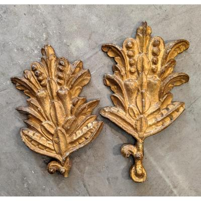 18th Century Gilded Wooden Ornaments