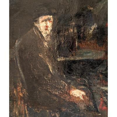 Portrait Signé Adolphe Peterelle