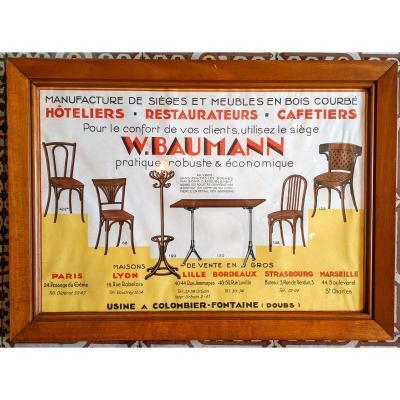 Affiche publicitaire Baumann