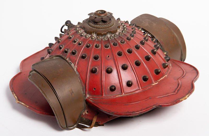 Kaji Kabuto - Rare Hoshibachi Helmet Of A Fireman Samourai, Japan, Late Edo Or Meiji Era