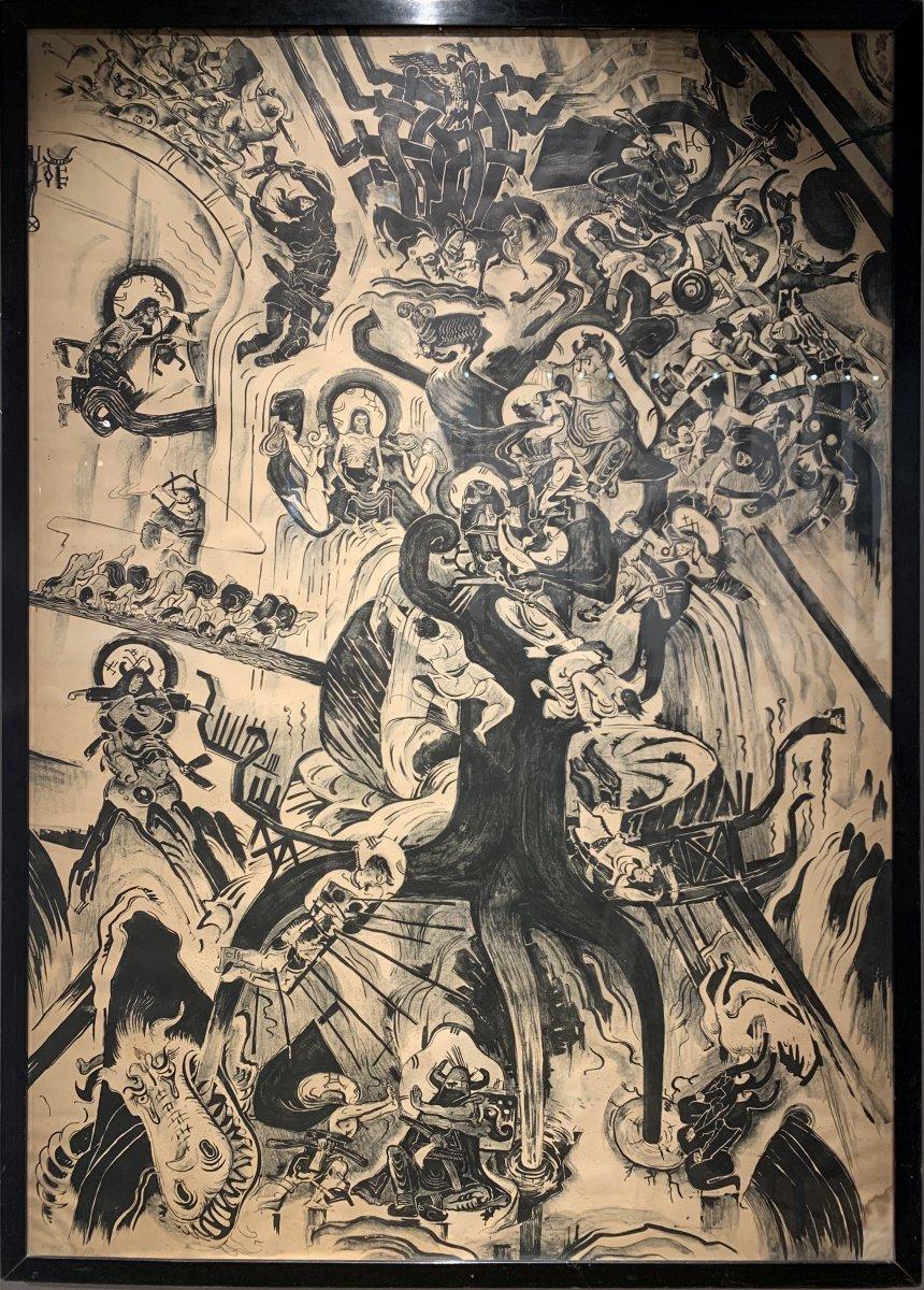 Ossian Elgström (1883-1950) Mythologie Nordique : Yggdrasil Ragnarök Et Dieux Vikings De Asgard