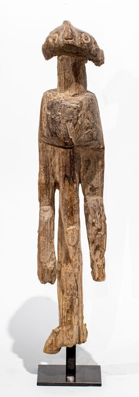 Mumuye Culture - Nigeria : Antique Anthropomorphic Wooden Statue