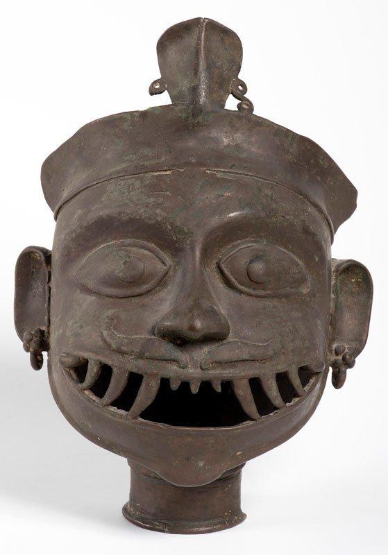 India Maharashtra Or Karnataka 18th Century - Head Of Bhairava : Protective Mask