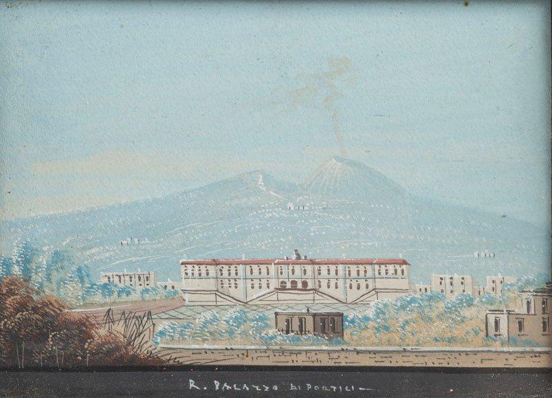 Italie 18ème Siècle - Suite De Petites Gouaches Représentant Des Vues De Naples Et De Pompéi-photo-4