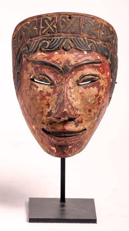 Masque de Wayang Topeng en bois polychrome – Indonésie, fin 19e / début 20e siècle