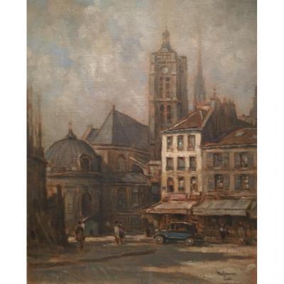 Saint-laurent Church In Paris, Louis Willaume (1874-1949)