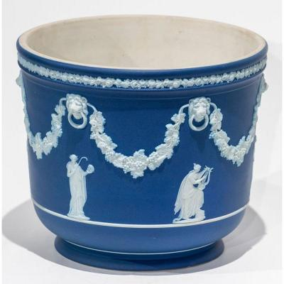 Wedgwood Bottle Cooler Decorated With Vine Vines And Allegories From Ancient Times