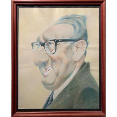 Jean-claude Morchoisne – Portrait-charge De Henry Kissinger