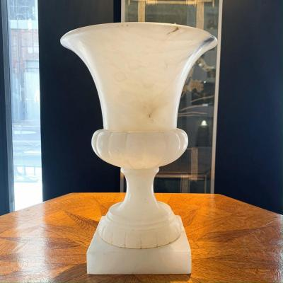 Vasque - Vase Médicis En Albâtre Blanc