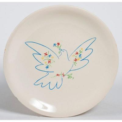 "Pablo Picasso Plate Editions Salins - ""the Dove Of Peace""."